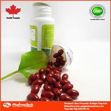 Private label OEM bee propolis supplement softgel capsule