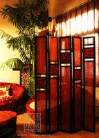 Q581-80.17 Three Panles Frame Decorative Antique Wooden Folding Screen