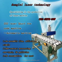 30 watt CO2 laser full-automatic printing machine for spurt the code