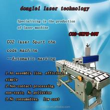 30 watt CO2 laser printing machine for spurt the code machine