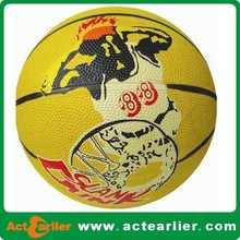 promotional cheap size 1 rubber basketball