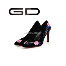 Ladies Shoes High Heel Red Black White Lady Bridal Shoes Made in China