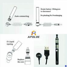 Wireless charging refillable e cigarette Apoloe Tank-6 Eco-friendly e cigarette