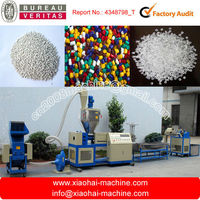 Cost Of PE PP Granule Waste Bag And Film Pelletized Double Screws Plastic Recycling Machine With Water Cooling To Make Pellets