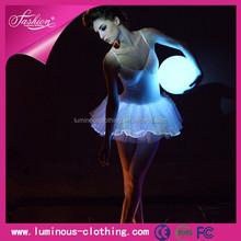 New luminous ballet dress light up tutu dress fiber optical dance dress dance costume