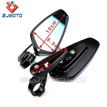 "Black custom Motorcycle 7/8""Handle Bar End Rearview Mirrors Rear side view mirror"