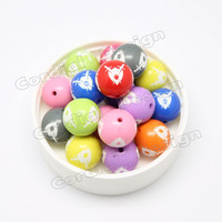 Cordial Custom Design Individuality Jewelry Sculpture DIY Pattern Charm Acrylic Costume Color Bead