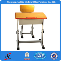 hot selling cheap/low price product stainless steel/wooden high school desk/table and chair