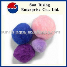 Acrylic and nylon plain color metallic color Pompom for toy, gift, kids, craft, DIY