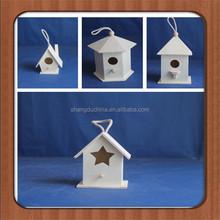 Diy pequeño decorativo mano funcional hecho a mano de madera respetuoso del medio ambiente birdhouse con muchos cajones