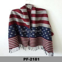 Newly America style widen imitated cashmere scarf