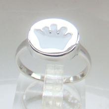 anillos de chapado de rodio 100% 925 joyería de moda anillo de resina de plata
