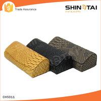 Snakeskin pattern leather folding glass case