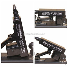 Automática telescópica elétrica arma / canhão máquina de sexo para mulheres com vibrador
