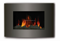 NEWEST 1500W ETL glass indoor wall mounted led electric fireplace