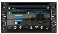 6.5 Inches Digital Touch Screen Universal Two Din DVD Players with Steering Wheel Bluetooth Radio