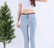 Die neue oberbekleidung dünnschliff hohe stretch-leggings capris casual bleistift Füße hose 9508