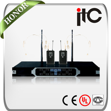 ITC T-521UY 2 Channel Tiny Wireless Headset Microphone System