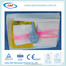 Non woven and PE Laminated Surgical Obstetric/Delivery Drape Set