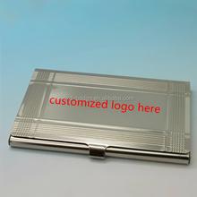 2015 novelty custom logo engriving laser aluminum mini paper namecard case/metal business card storage case