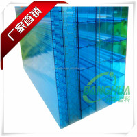 hot sale uv protection two layers polycarbonate hollow green pc sheet