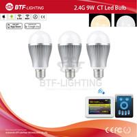 3x 2.4g smart led 9w bulb e27 CCT + Mi light wifi adapter contrller