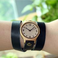 Wholesale Fashion Bamboo Watch Custom Logo We Wood Wrist Watch Cheap Handmade Leather Strap And 2015 women Wooden Watches