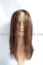 Unprocessed Virgin Chocolate Indian Human Hair PU Injection Wig With Clip