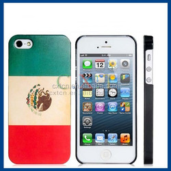 Mexican Flag Print Matte Plastic Case for iPhone 5