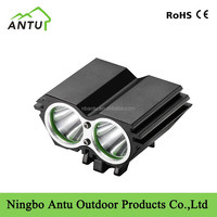 double head LED High brightness bicycle 18650 rechargeable battery cree XML T6 bicycle light