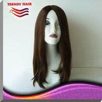 Jewish 18 Inches Long Human Hair Wigs