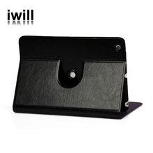 business design 360 rotation leather flip case for ipad mini