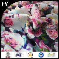 FY printed custom high quality digital printed elegant dress fabric
