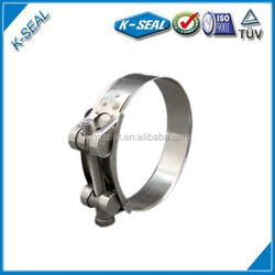 Unitary hose clamp for motorcycle