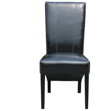 Luxury Genuine Leather Modern Wood Dining Chair/Promotion Used Restaurant Dining Chair with cheap price