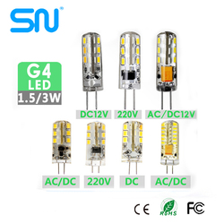 Hot sale 1.5w silicon cover material g4 led 12v