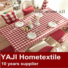 factory wholsale yarn dyed red and white plaid fabric use for table cloth