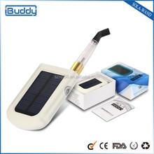 2015 new technology solar charging e cigarette for portable power bank