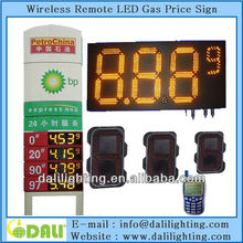 "Excellent factory of digit design easy for maintaining high brightness waterproof 10"" gas board GAS STATION PRICE SIGN"