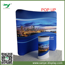 Pop up stand for easy display backdrop with graphic