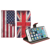 Flag Design leather case for iphone, for apple iphone 6 fashion case