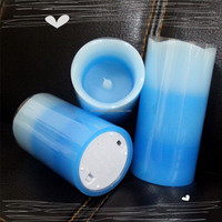 Home decoration use and paraffin wax material Christmas design candles operated by battery