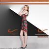 2015 New Fashion High Neck Sequine Appliques Cocktail Dresses