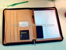 New style leather portfolio & brief case,A4 leather portfolio folders