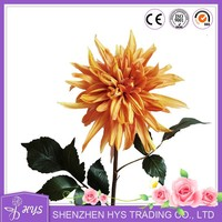 realistic fake flowers pu nature touch dahlia for wedding room