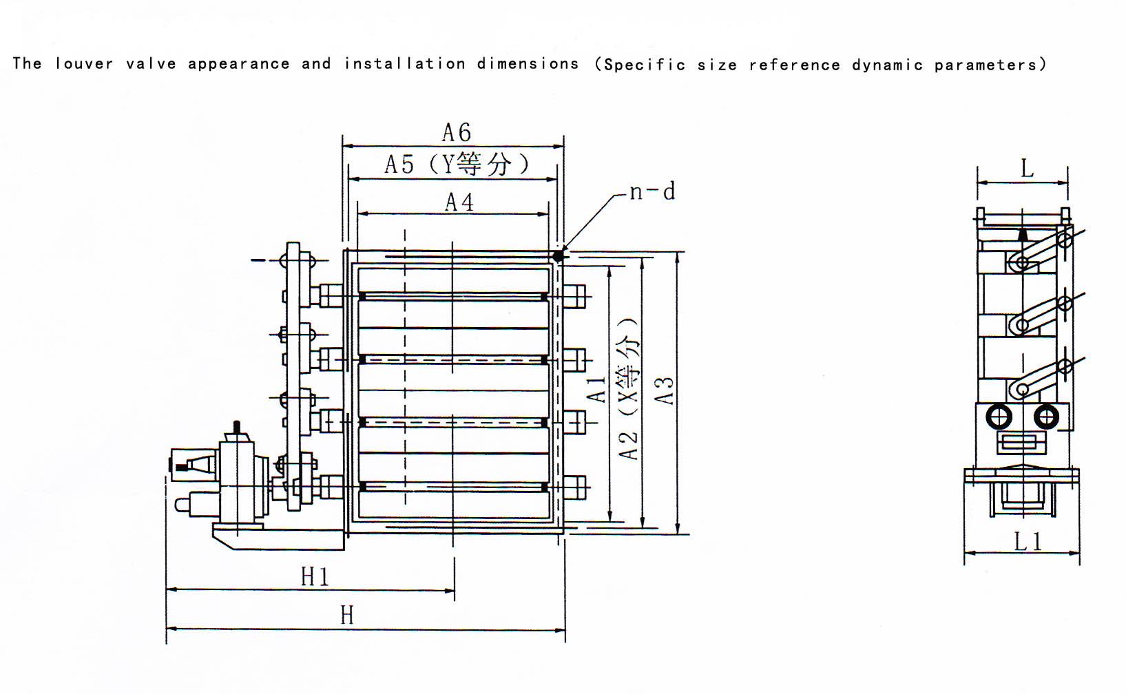 electric louver damper  motorized square damper  damper