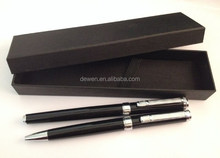 2015Hot selling--SHANGHAI DEWEN Gift ball pen & roller pen set with lay and tray box PARKER REFILL metal pens