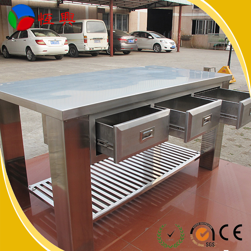 Kitchen Working Table With Sinkwork Table With Cabinetkitchen - Stainless steel work table with drawers