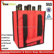 Wholesale 600D Polyester 6 pack wine bottle bag, wine bag