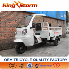 Peru Good Full Closed Driver Cabin Powerful 250CC Adult Cargo Transport Tricycle